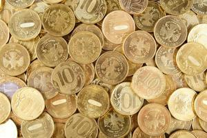 sfondo di monete russe foto