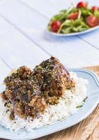 pollo furikake all'aglio foto