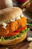 sandwich di pollo al bufalo fatto in casa foto