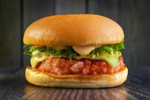 hamburger di gamberi foto