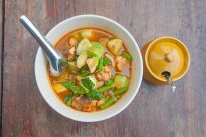 cibo vegetariano-curry piccante tailandese foto