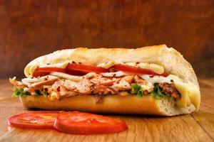 panino al salmone foto
