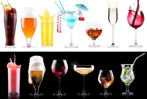 set di bevande alcoliche diverse foto