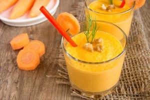 frullato di carote foto