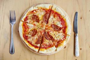 pranzo con la pizza foto