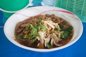 alimento della tagliatella in Tailandia foto