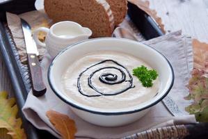 zuppa cremosa autunnale foto