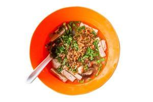 minestra di tagliatelle di maiale dal Vietnam foto