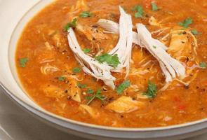 zuppa di pollo piccante foto