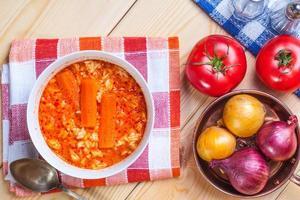 zuppa di pomodoro. foto