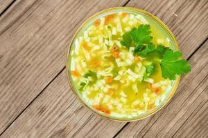 zuppa di noodle foto