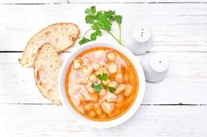 zuppa di fagioli. foto