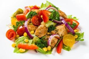 insalata di giros di pollo foto