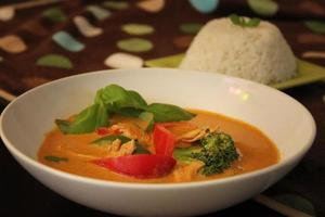 curry tailandese del panang foto