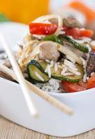 dieta alimentare (riso e verdure) foto