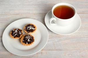 mini crostata al cioccolato foto