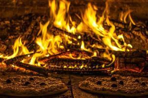 pizze al forno a legna foto