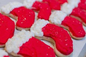 calza i biscotti di natale foto