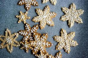 biscotti a fiocco di neve foto