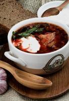 borscht tradizionale ucraino foto