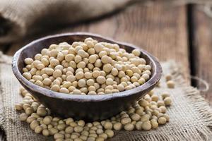 mucchio di semi di soia