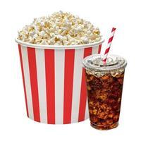popcorn in scatola con cola foto