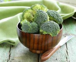 broccoli verdi freschi foto