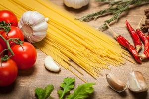 spaghetti italiani foto