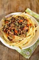 pasta con lenticchie alla bolognese