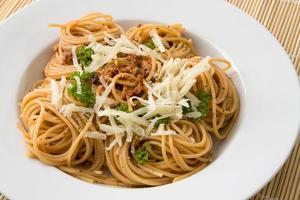 spaghetti al pesto foto