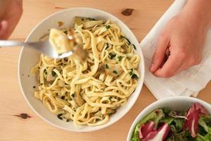 spaghetti fatti in casa foto