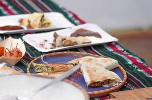 tostadilas de miguel - tortilla di grano foto
