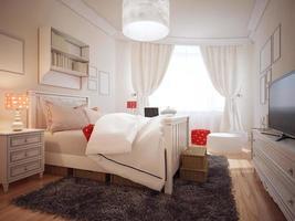 elegante camera da letto in tendenza art deco foto