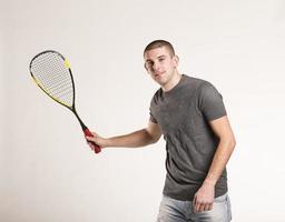 giocatore di squash foto