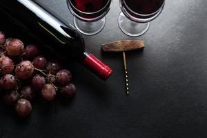 sfondo di bordo di vino rosso foto
