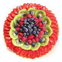torta di frutti di bosco, vista dall'alto