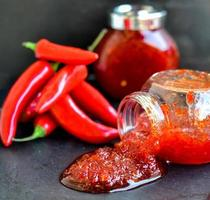 salsa di peperoncino dolce foto