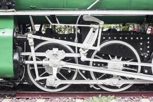 vecchio treno vintage, ruota del treno