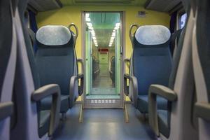 sedili del treno foto
