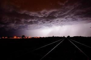 tempesta della ferrovia foto