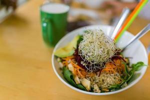 pranzo vegano foto