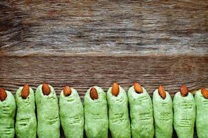 biscotti delle dita della strega di Halloween foto