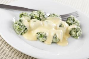 gnocchi di spinaci e ricotta foto