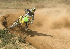pilota di motocross foto