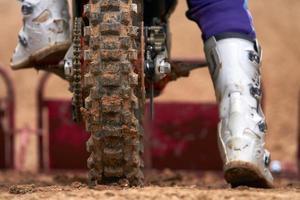 gara di motocross foto