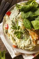 frittata di albume d'uovo spinaci sani