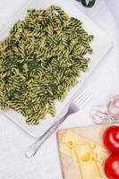 pasta con spinaci foto