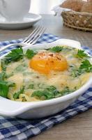 spinaci e formaggio al forno foto