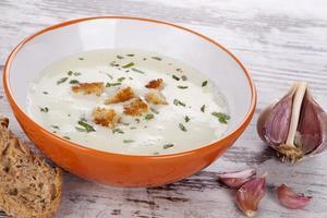 zuppa d'aglio. foto