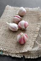 bulbo d'aglio e chiodi di garofano foto